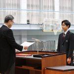 第24回卒業証書授与式(卒業証書授与 機械システム)