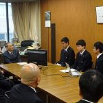 広島県教育長様へ表敬訪問を中学・高校ロボ研の生徒、代表者各2名がさせて頂きました。